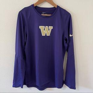 Nike UW Huskies Purple Elite Shooter Long Sleeve-S